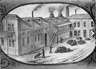 Ábrahám Ganz - The building of the foundry (today 20 Bem József Street, Budapest)