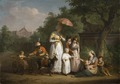 A Noble Family Distributing Alms in a Park (Mathys Ignatius van Bree) - Nationalmuseum - 17364.tif