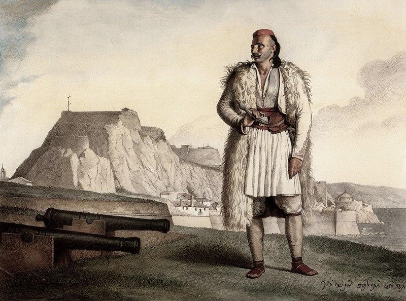A Souliot in Corfu Nikolos Pervolis, by Louis Dupré - 1827