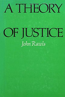 <i>A Theory of Justice</i> 1971 book by John Rawls