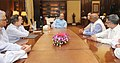 A delegation of Owners Publishers of Newspaper Houses, meeting the Union Minister for Finance and Corporate Affairs, Shri Arun Jaitley, to discuss the issues of GST, in New Delhi on September 26, 2016.jpg
