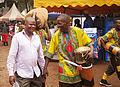 A man holding a local drum(Engalabi).JPG