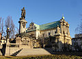 Adam Mickiewicz monument and the church of Saint Joseph Care (8020453453).jpg