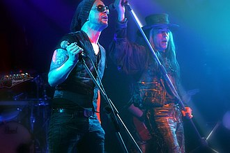 Adam Darski - Nergal and Carl McCoy of Fields of the Nephilim, 2011