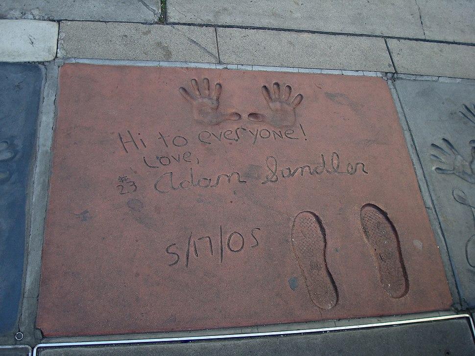 Adam Sandler footprint
