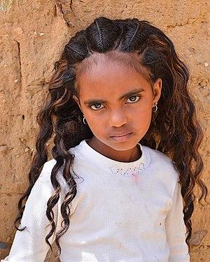 Tigrayans - Tigrayan girl in Adigrat.