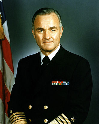 Stansfield Turner - Image: Admiral Stansfield Turner, official Navy photo, 1983