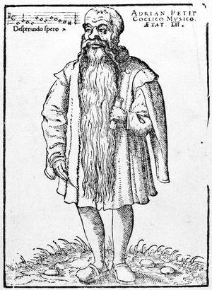 Adrianus Petit Coclico - Adrianus Petit Coclico. Anonymous woodcut, 1552.