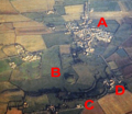 Aerial photograph of Skipsea Castle, labelled.png