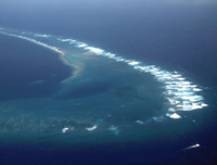 Aerial view of the Southeast Part of Kingman Reef