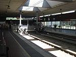 Aeropuerto Barcelona, interior de la estación de trenes, guardachoques.JPG