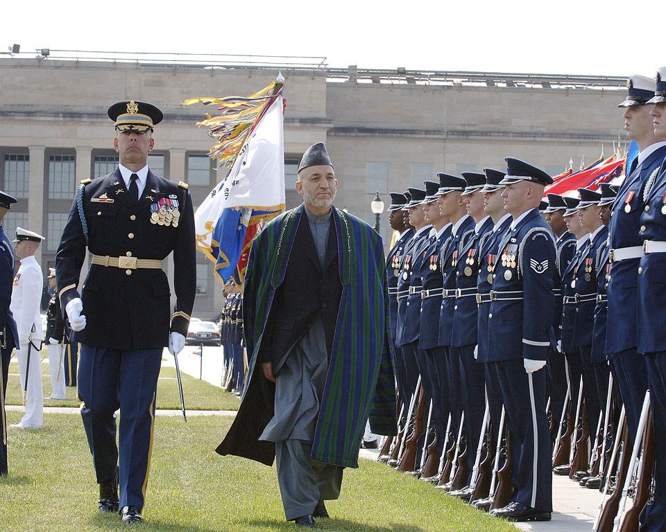 fileafghan president hamid karzai at the pentagonjpg
