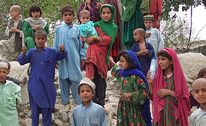 Afghan children in Khost Province