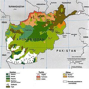 Languages Of Afghanistan Wikipedia - Farsi language map