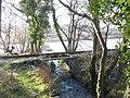 Afon Fachwen enters Llyn Padarn through a bridged gap in the Cei Llydan causeway - geograph.org.uk - 320098.jpg