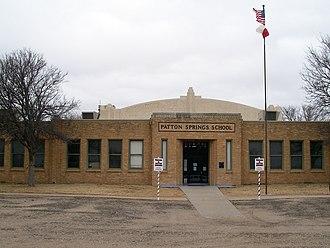 Afton, Texas - Patton Springs School
