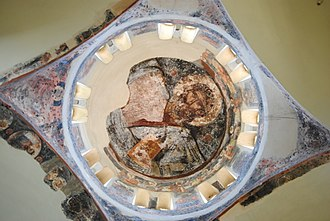 Church of the Holy Apostles, Athens - The roof of the church from the inside.