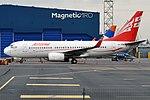 Airzena, 4L-TGN, Boeing 737-7BK (17272168669) (2).jpg