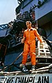 Alan Shepard after a postflight inspection of his capsule Freedom 7 aboard the USS Lake Champlain.jpg