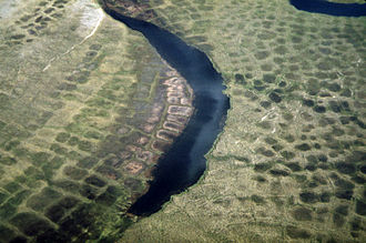 Patterned ground - Polygonal soil patterns, typical of the Arctic Tundra