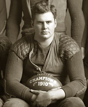 Albert Benbrook - Benbrook in 1910 (from Michigan football team photograph)