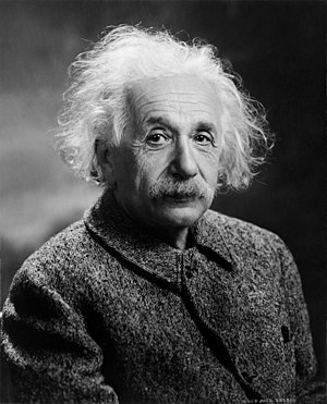 English: Albert Einstein Français : portrait d...