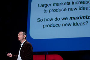 Alex Tabarrok - Tabarrok speaking at TED in 2009. Photograph by Bill Holsinger-Robinson.