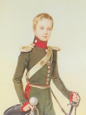 П. Соколов. Великий князь Александр Николаевич, <i>1828</i>