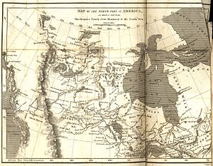 Alexander Mackenzie (explorer) - Map of the North Part of America on which is laid down Mackenzies Track from Montreal to the North Sea