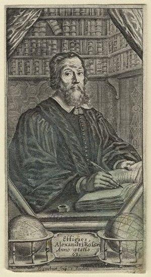 Alexander Ross (writer) - Alexander Ross, 1653 engraving by Pierre Lombart.
