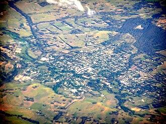 Alexandra, Victoria - Aerial view of Alexandra