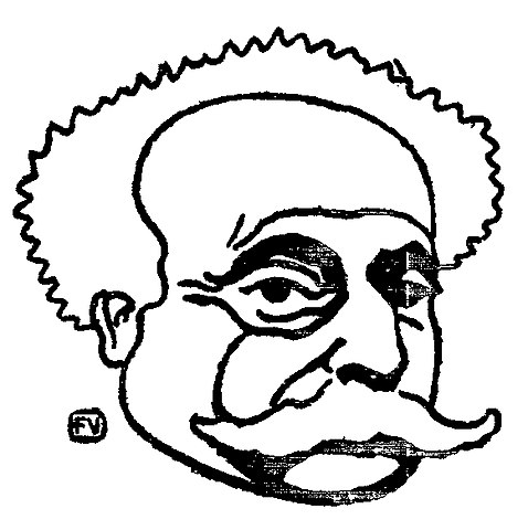 Худ. Феликс Валлотон. Портрет Дюма-сына (1895)