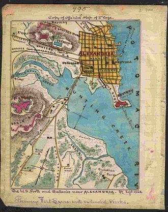 Fort Lyon (Virginia) - Fort Lyon, Virginia Map
