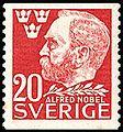 Alfred Nobel 1946 Sweden stamp 20 ore.jpg