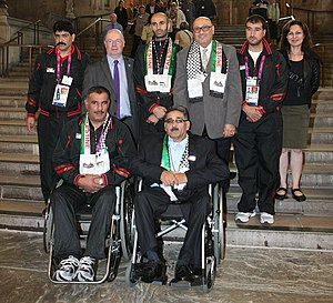 Palestine at the 2012 Summer Paralympics - The Palestinian Paralympic delegation with Alistair Burt.