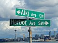 Alki Ave SW and Harbor Ave SW in West Seattle.jpg