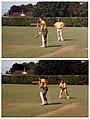 Allan Border (wicketkeeping) & Geoff Marsh (batting) - At Victoria University Wellington - 1986 (15895133853).jpg