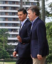 Former Mexican President Enrique Peña Nieto And Colombian Juan Manuel Santos 2017