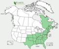 Alnus serrulata NRCS range map.png