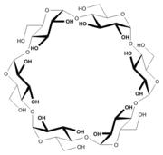 Strukturformel für α-Cyclodextrin