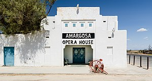 Amargosa Opera House and Hotel - When Marta Becket rented and repaired Corkhill Hall in 1967, she changed the name to the Amargosa Opera House.