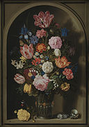 Ambrosius Bosschaerts the Elder - Bouquet of Flowers in a Stone Niche - Google Art Project.jpg