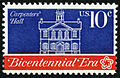 American Revolution Bicentennial Carpenters' Hall 10c 1974 issue U.S. stamp.jpg
