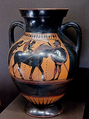 Typology of Greek vase shapes - Image: Amphora Louvre F12