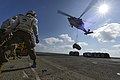 An MH-60S delivers cargo to USS Bonhomme Richard. (8467235983).jpg