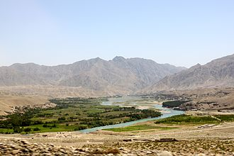 Valleys of Afghanistan - Image: An irrigated valley in Afghanistan