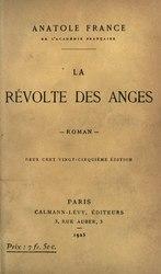 Anatole France: La Révolte des anges