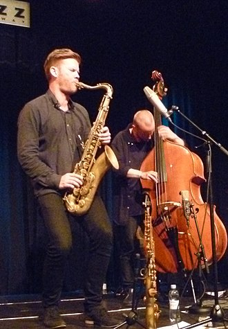 André Roligheten - Roligheten and Petter Eldh with Gard Nilssen's Acoustic Unity at the 2016 Nattjazz in Bergen.