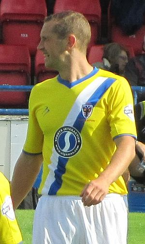 Andy Frampton - Frampton playing for AFC Wimbledon in 2013
