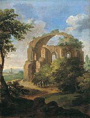 Le temple de Bacchus à Rome